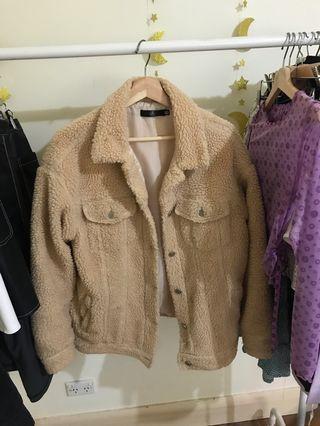 Missguided borg teddy trucker jacket