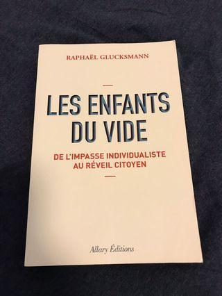 French book - Raphaël Glucksmann - Les Enfants du Vide