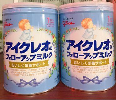 品牌:日本固力果二階奶粉1-3歲(日本原裝) 有效:2020.04.08 容量:每罐800g