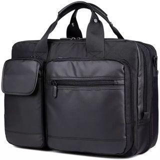商旅上班雙肩包手提包萬能防水出差可變大容量