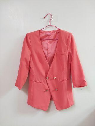 🚚 粉紅色西裝外套