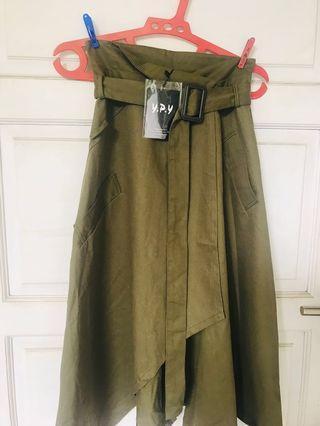 Zara Like Wrap Skirt (Green Army)