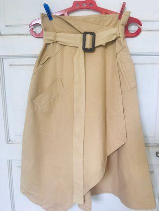 Zara Like Wrap Skirt ( Brown light )