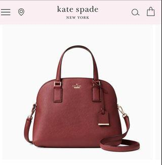 (Instock !) Includes Gift Box, Kate Spade Cameron Street Lottie in Sienna Color