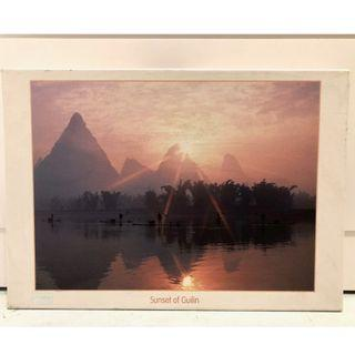 500 piece jigsaw puzzle (Sunset of Guilin)