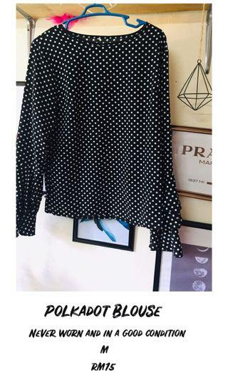 Polka Dot With Wide Sleeves