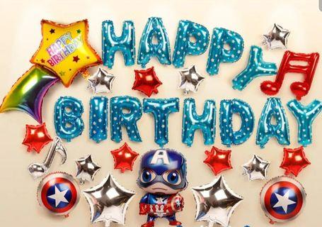 🚚 Birthday balloons set for boy
