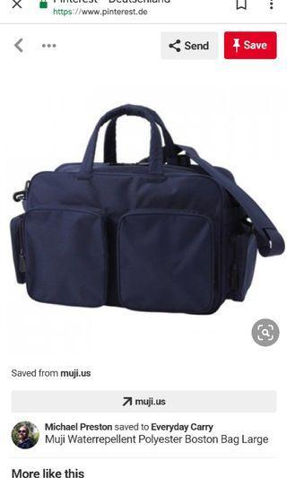 Muji Water Repellant Polyester Boston Bag Large旅行袋
