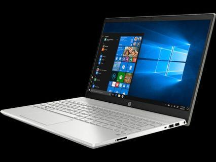 HP PAVILION 1515-cs2010TX : core i5-8265u ( 8th gen ), 4 core, up to 3.9Ghz, 4GB RAM, DDR4, 256GB SSD M.2, NVIDIA MX250 2GB DDR5, 15.6-inch FHD ( 1920 x 1080 ), 2 years onsite warranty ( HP )