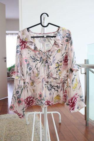 Miss Selfridge Pink Floral Top