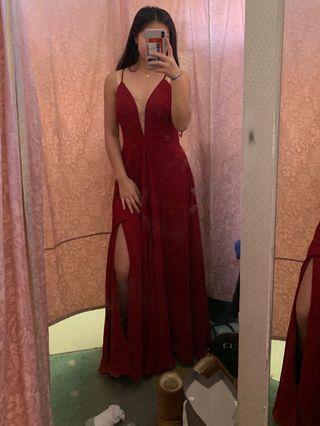 *PRICE DROP* Red chiffon prom dress
