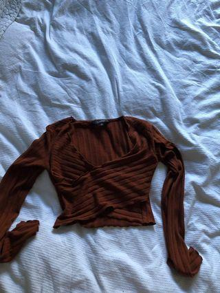 Glassons long sleeve crop