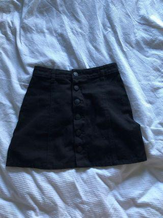 Glassons denim button skirt