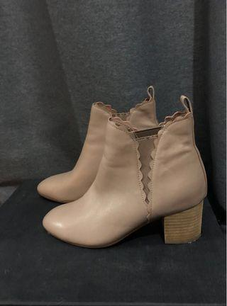 Midas Nude Pink Boots Size 36