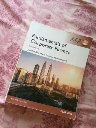 Fundamentals of Corporate Finance 3rd Edition (jonathan berk, peter DeMarzo, jarrad harford)