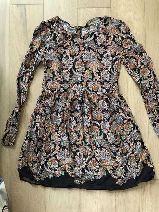 Zara floral dress s
