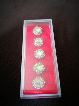 Butang Baju Melayu Swarovski Korean Crystal