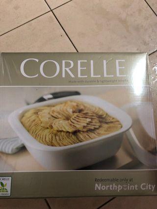 🚚 Corelle square 1.41L casserole with glass cover and 15pcs bowl set