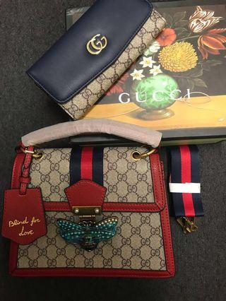 Gucci replica bag with wallet