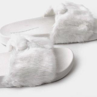 Windsor Smith Faux Fur Slide Sandals