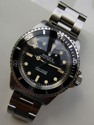 Rolex Vintage Submariner 5513 meter first
