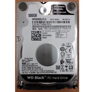 "Western Digital (WD) Black 500GB/ SATA 2.5"" 7200rpm Notebook HDD (NEW)"