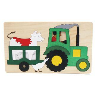 🚚 Multi-layer 3D Wooden Jigsaw Puzzle - Tractor
