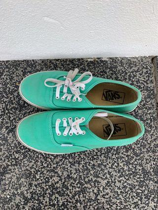 Vans Authentic Womens Laced Trainers (Green)
