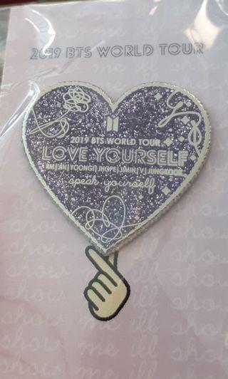 BTS Love Yourself enamel pin 💜