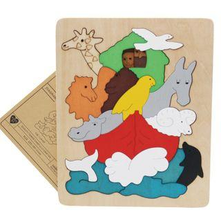 🚚 Multi-layer 3D Wooden Jigsaw Puzzle - Animal Kingdom