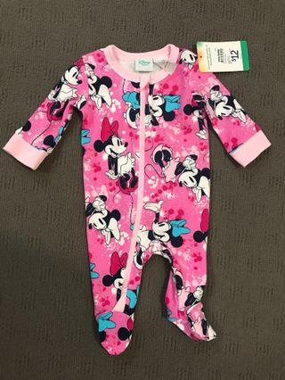 Disney Baby Minnie Mouse Girls Romper Newborn Size 0000 BNWT
