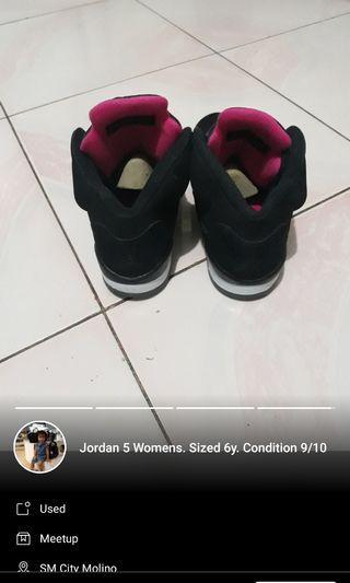 Pre loved Air Jordan 5 Black Pink