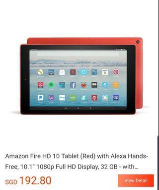🚚 Amazon fire HD 10