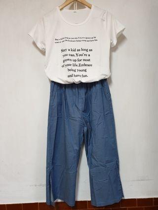 🚚 棉麻8分褲