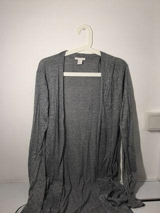 🚚 H&M Full Length Grey Cardigan