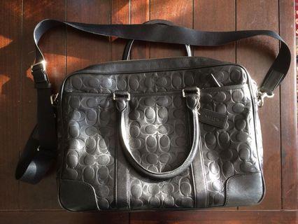 Authentic Coach Leather Mens Briefcase