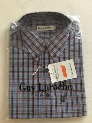 Guy Laroche Men's Short Sleeve Shirt Checks Blue/Red
