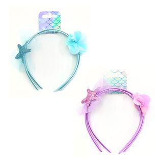 Lovely Glittery Star & Flower Puff Headband 2pcs Pair Set