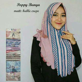 Hijab Poppy bunga