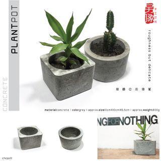 creative handicraft concrete plant pot