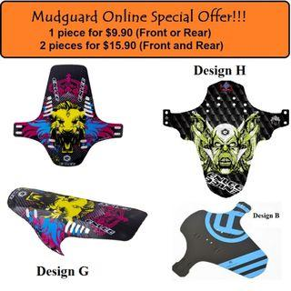 MudGuard for Bicycle 1 for $9.90, 2 for $15.90, Ass-Save $5