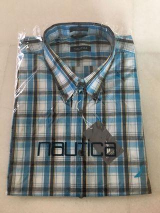 Nautical Men's Short Sleeve Shirt Checks Blue/White