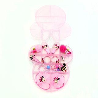 Sweet Minnie Mouse Jewellery Box 12pcs Set