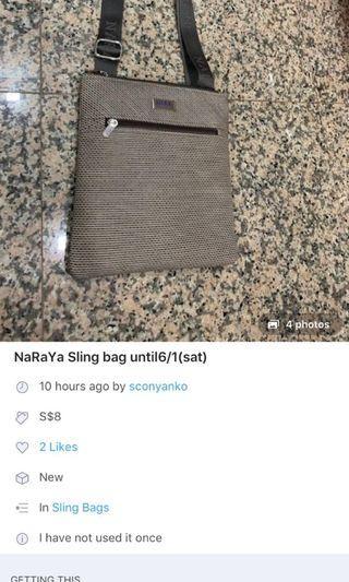 🚚 NaRaYa sling bags   until 6/1(sat)