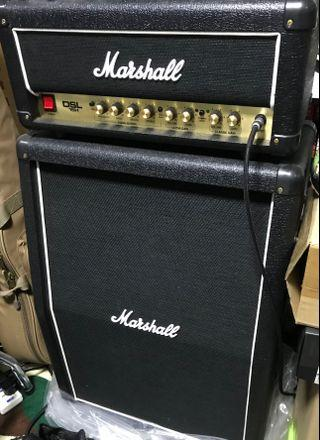 Marshall Tube Amplifier DSL15H and 2x12 160w cabinet