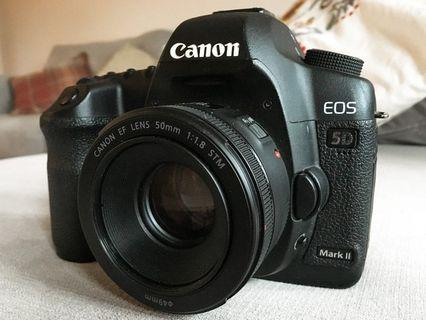 Canon 5d mii with 50mm stm 1.8 raya