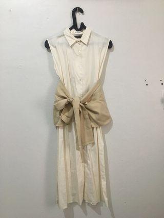 [SHOPATVELVET] - WHITE DRESS WITH OBI #mauthr