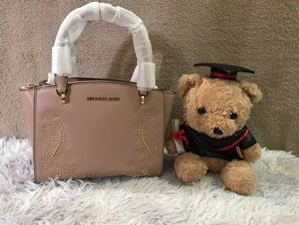 Michael Kors Small Gold Studded leather Satchel
