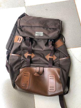 Visval Backpack Ransel Coklat Kulit