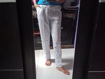 Baggy pants white new